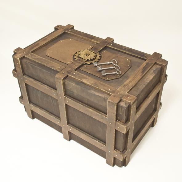 coffre fort steampunk petites curiosit s. Black Bedroom Furniture Sets. Home Design Ideas